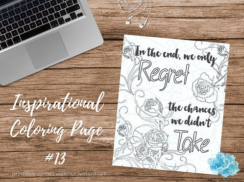 Adult Inspirational Coloring Page printable #13-Take a Chance