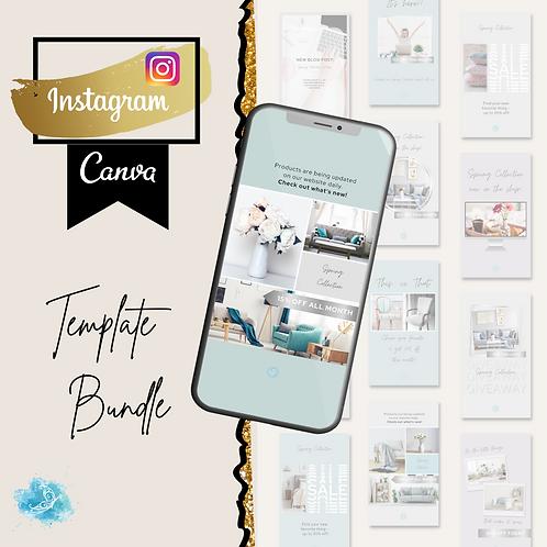 Instagram Story CANVA e-commerce template bundle 10 varieties + 30 bonus templat