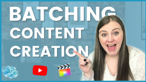 Get more time back in your business | How to use batching to be more productive and create content