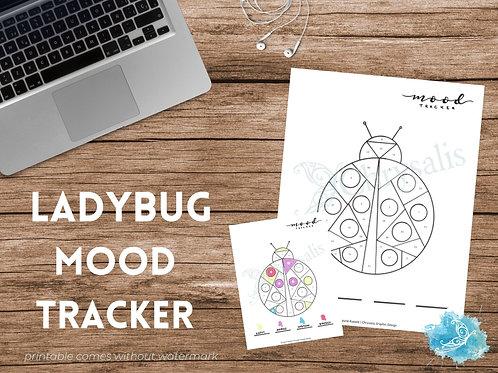 Ladybug Mood Tracker - Geometric Animals (digital + print files) bujo insert
