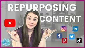 How to repurpose your content | Reuse your YouTube video on other social media to save time!
