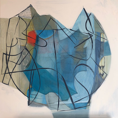 """Painting by Regina Hall, Vessel, 30""""x30"""", Acrylic on Canvas"""