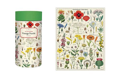 Vintage Wildflower Puzzle, 1000 pieces