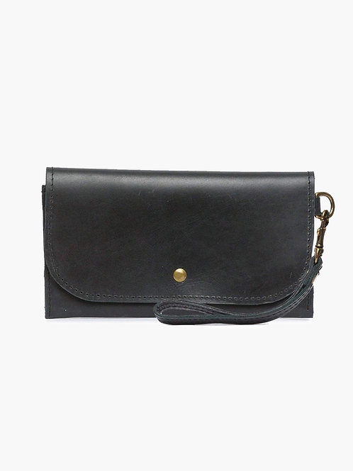Mare Phone Wallet with wristlet, black