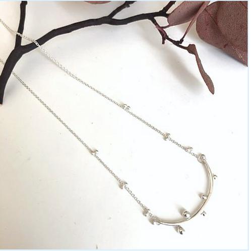 "Bulb Bar Necklace silver 18"""