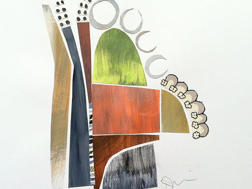 """Collage, City View, 16""""x20"""" with mat"""