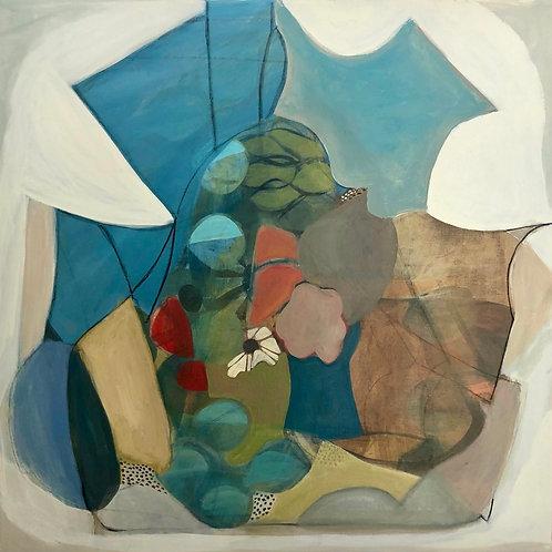 "Painting by Regina Hall, Island, 24""x24"", Acrylic on canvas"