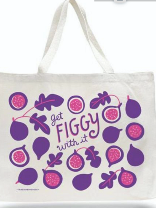 Get Figgy with It, 100% Cotton Bag