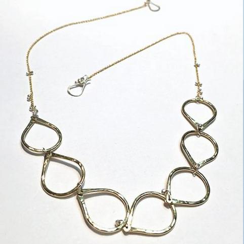 """Petal Necklace silver 18"""""""