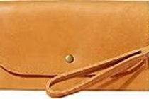 Mare Phone Wallet with wristlet, cognac