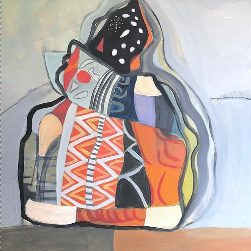 "Painting, Joy Bag, 24""x24"""