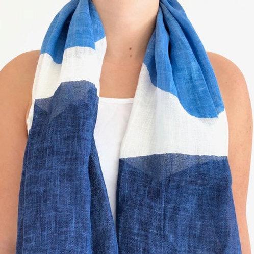 Scarf, Rocks Blue/Blue Linen