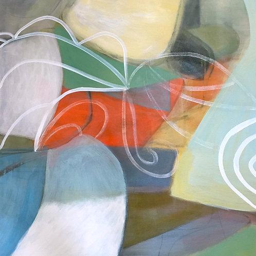 "Regina Hall -- Painting, Shelter, 24""x24"""