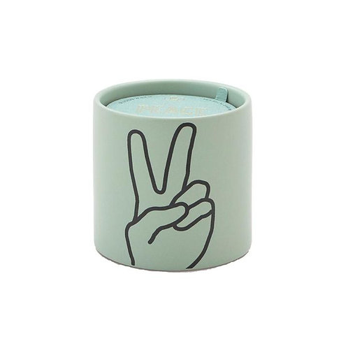 Soy wax candle.  Peace!  Lavender & thyme.