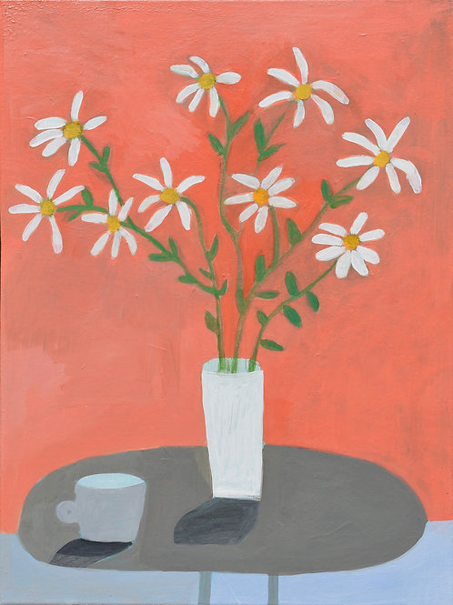"""Painting, Daisies, 18""""x24"""", Framed"""