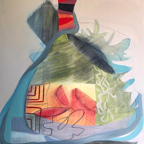 "Painting, Regina Hall, Germinating 24""x24"""