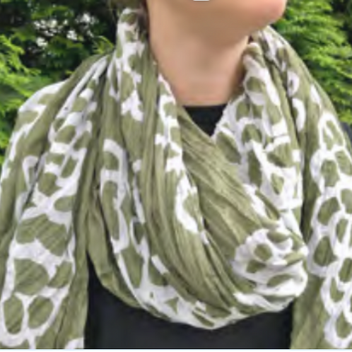 Scarf, Clouds Moss Cotton