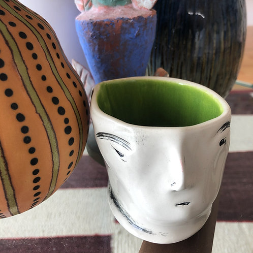 Imp cup with green interior