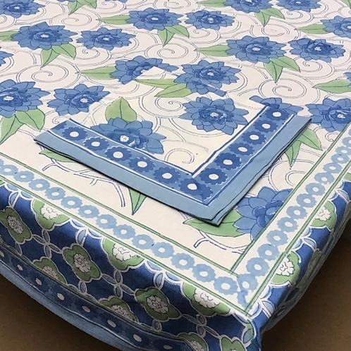 Handprinted Tablecloth Klimt Lotus 60x90