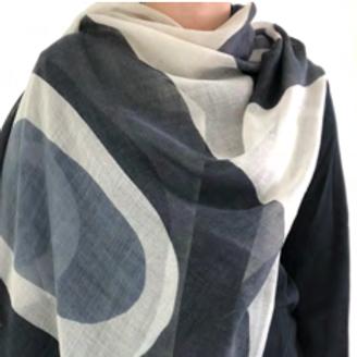 Scarf, Double Rock Black/Grey Wool