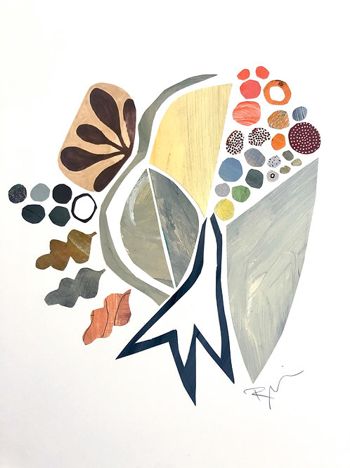 """Collage, Garden Collection, 16""""x20"""" with mat"""