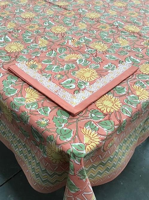 handprinted tablecloth Sunflower Meadow 60x90