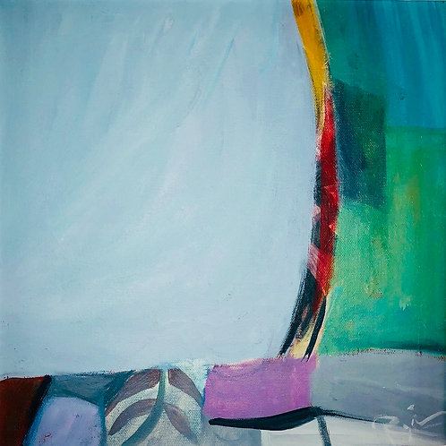 "Regina Hall, Opening, Acrylic on canvas 12""x12"""