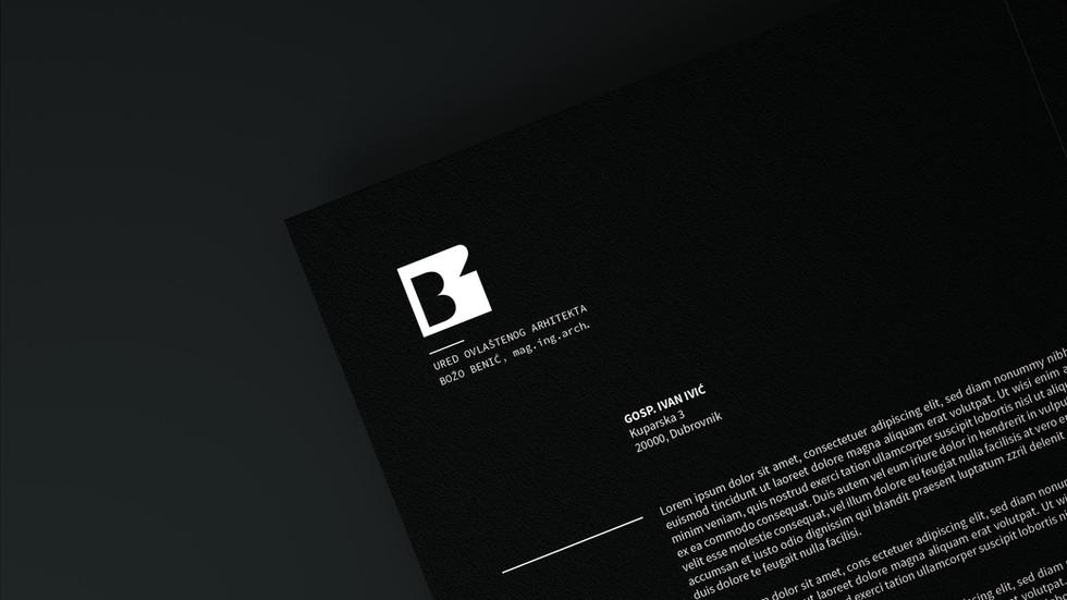 Arhitekt Božo Benić primjene / logotip