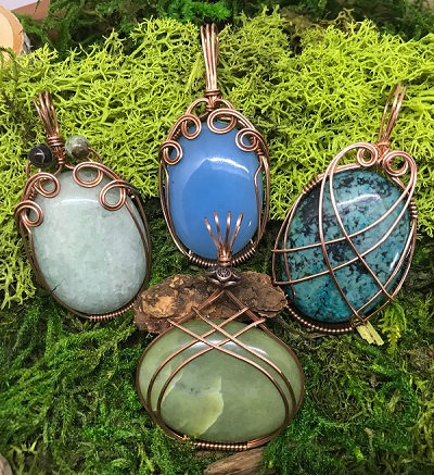 Sunday, September 30th: Wire wrapped cabochon