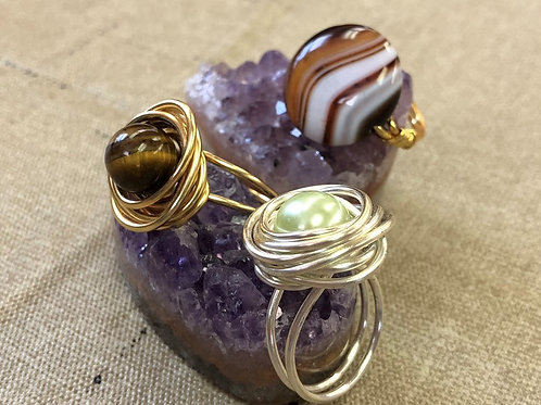 Saturday January 6th;  Wire Wrapped Ring