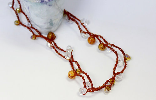 Boho Crochet Necklace PLEASE CALL TO SCHEDULE
