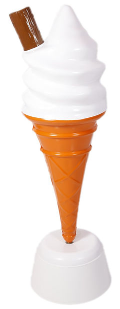 Lage Floor Standing Whipped Ice Cream Cones