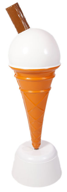 Lage Floor Standing Scooped Ice Cream Cones