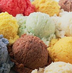 Colourful Scooped Ice Cream