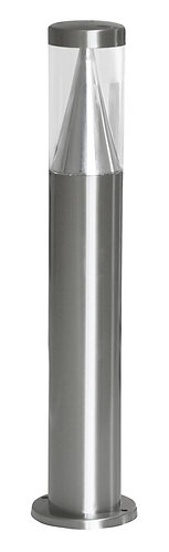 Lampioncino da esterno a led in acciaio INOX, altezza 50 centimetri