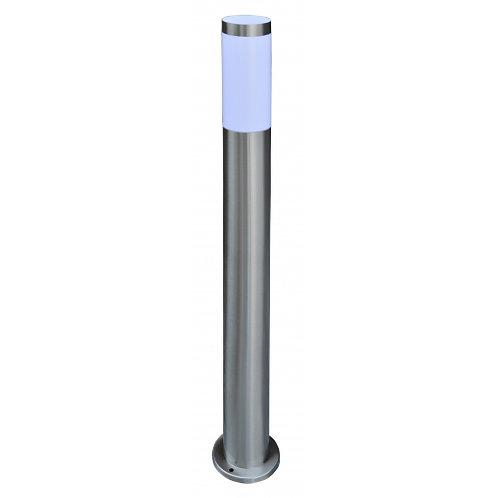Lampione da esterno cilindrico in acciaio INOX, altezza 80 centimetri