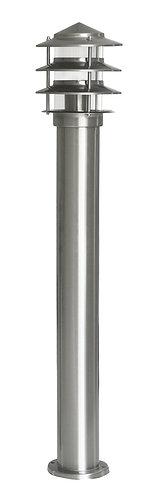 Lampioncino da esterno in acciaio INOX, altezza 80 centimetri, attacco E27