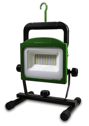 Faretto spot a led 30W senza filo (a batteria) ultracompatto, porta USB