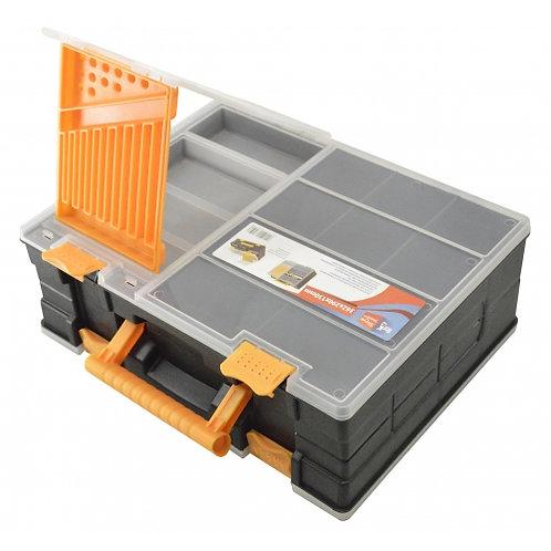 Valigetta porta componenti  doppia con scomparti modulabili