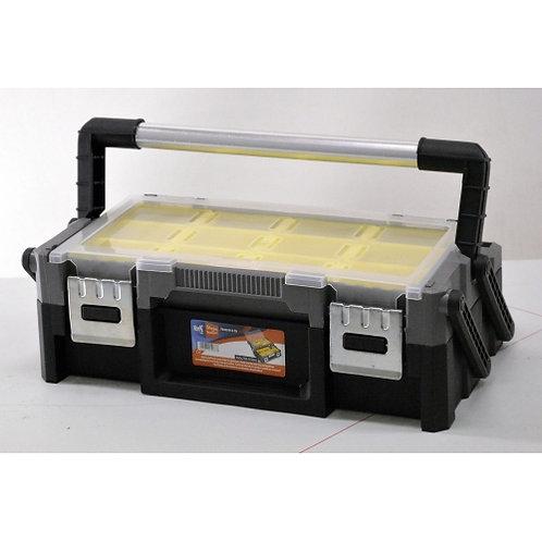 Valigetta porta componenti a due livelli con 18 contenitori amovibili