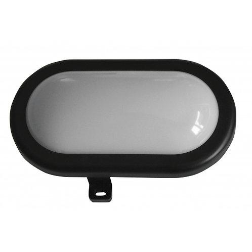 Lampada per esterno ovale in abs con lampada a led da 5W, colore nero