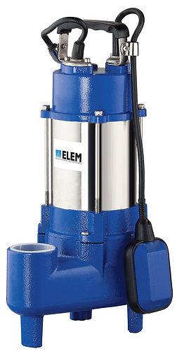 Elettropompa sommergibile vortex corpo in inox/ghisa 1,0 hp 3-400v