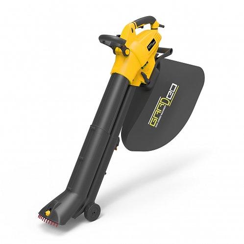 Aspiratore/ soffiatore/trituratore elettrico 3000W con sacco capacità 35 litri