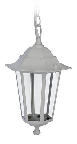 Lanterna da esterno a sospensione, colore bianco, attacco lampada E27