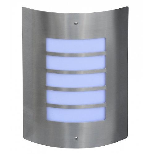 Applique da esterno in acciaio INOX, attacco lampada E27 per potenza massima 40W