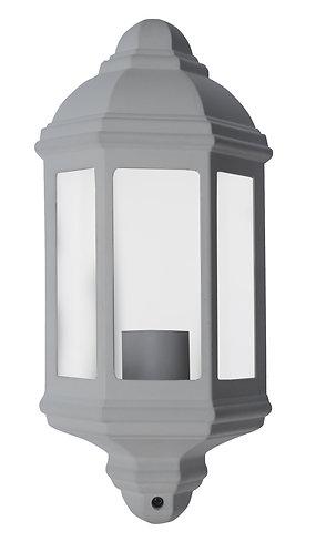 Lampada da esterno da fissare a parete, colore bianco, attacco lampada E27