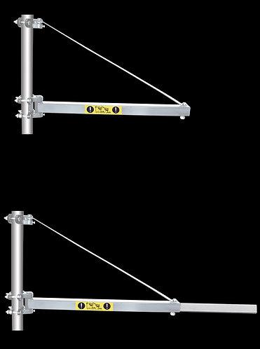 Supporto per paranco con braccio telescopico