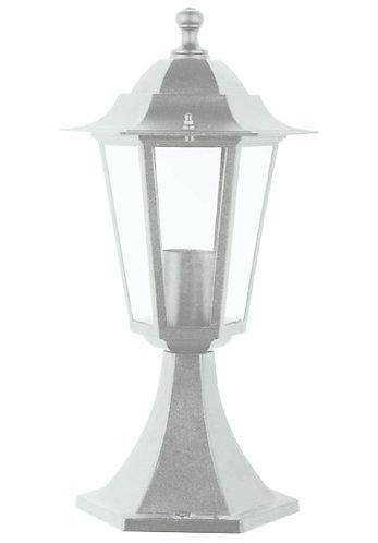 Lanterna da esterno con base, colore bianco, attacco lampada E27