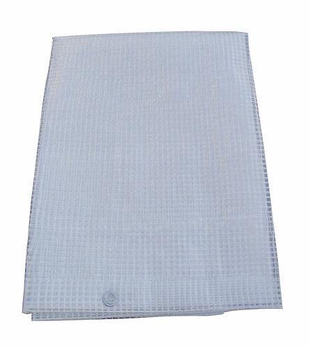 Telone in polietilene con occhielli, dimensioni 800x500 centimetri, 170 gr/mq