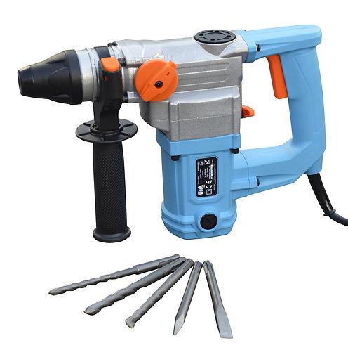 Trapano martello perforatore-scalpellatore 800W 4 Joule con accessori